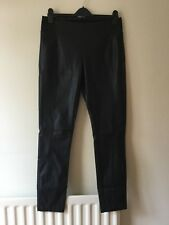 Ladies Black Faux Leather Look Legging Size XL