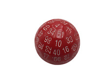 SkullSplitter Single 100 Sided Polyhedral Dice (D100) | Solid Red Color (45mm)