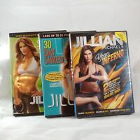 Jillian Michaels Set of 3 Workout DVDs Shred-It, 30 Day Shred, Yoga Inferno