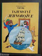 Tintin  -  Le secret de la licorne en tchèque éd. Egmont 1994 - RARISSIME TBE!!