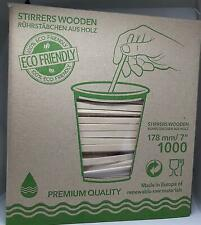 1000 X Wooden STIRRERS - ECO Friendly - Premium Quality - Box Packed - Made in E