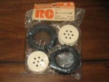 Tamiya 5235 Hot Shot Front Super Spike Tire Wheel Rim Set Vintage Original RC