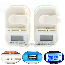 Universal LCD Battery Charger Indicator Screen US Plug For Mobile Cell Phone