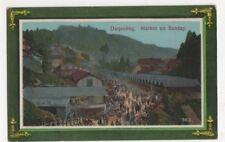 India, Darjeeling, Market on Sunday Postcard, B125