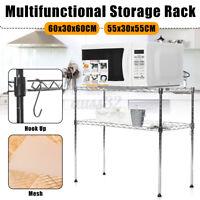 2 Tier Microwave Oven Rack Kitchen Storage Cart Utility Workstation Stand Shelf