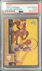 Dennis Rodman Signed 1996 Upper Deck #19 Bulls Card Sticker Auto HOF PSA/DNA
