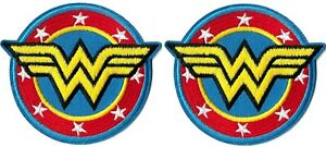 "Wonder Woman - Winged ""W"" Logo [Lot of 2 Patches] Patch Symbol Badge Emblem"