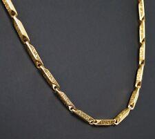 Lujo Ancla Collar Acero Inox. Cadena Collar Color Dorado kk78 Nuevo