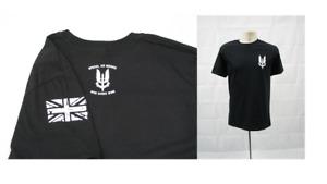 SAS T-shirt UK Special Forces - Black - High Quality - Large Mens