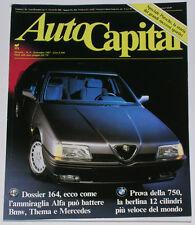 AUTOCAPITAL 9/1987 LANCIA PRISMA INTEGRALE - ISO RIVOLTA GT - CITROEN BX GTI 1.9