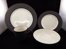 item 1 noritake colorwave graphite 4 piece place setting excellent condition in box - Noritake Colorwave