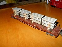 HO and S Scale-Gauge  handmade pipe load for flat cars-gondolas