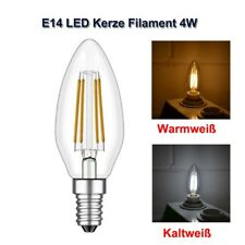 LED Lampe Kerze Filament 4W 500lm E14 warmweiss kaltweiss Leuchtmittel dimmbar