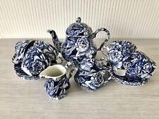 Tea Set With Teapot, Milk Jug And Lidded Sugar Bowl