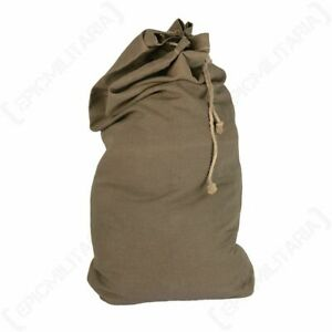 Czech Large Cotton Duffle Bag - Olive - Army Military Sports Laundry Holdall