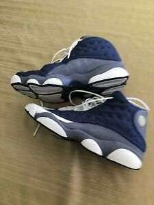 "Air Jordan XIII 13 Navy ""French Blue"" Flint Retro Men's Used 10.5"