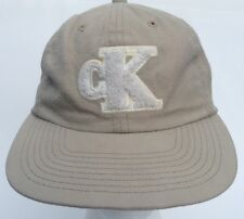 CK Calvin Klein Ball Cap Hat  SnapBack Tan/Beige