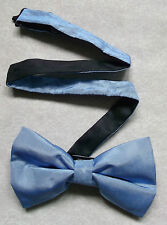 Nuevo De lujo seda MENS corbata de Moño Bowtie trémulo CIELO AZUL BNWOT + + Calidad Superior