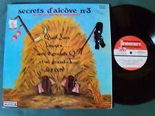 SECRETS D'ALCOVE no 3 Maryse Martin & André Daick LP PRESIDENT KVP 275 érotique