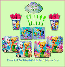 DISNEY TINKERBELL FAIRIES GIRLS BIRTHDAY PARTY SUPPLIES 64 PC TABLE TINKER BELL