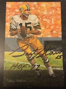 Bart Starr Signed Goal Line Art Card Autograph Green Bay Packers HOF COA