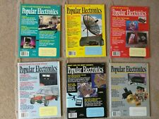 Lot 6 Vintage Popular Electronics Magazines 1993