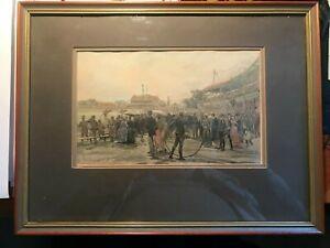 1900;s Antique Vintage  Print Landscape   framed in glass 40cmx30cm