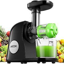 Juicer Slow Masticating Juice Extractor Juicing Machine Reverse 50W Quiet Black