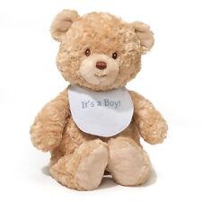 """Gund It's a Boy Blue Bib Bear 15"""" Plush Teddy Bear"""