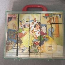 GERMAN VINTAGE PICTURE BLOCKS GRIMMS FAIRY TALES IN CASE HERMANN EICHHORN 40S/50