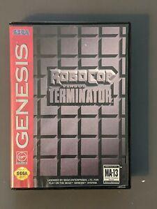 Robocop vs The Terminator - Sega Genesis - CIB, Good Condition!