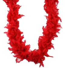 Red 70 gm 72 in 6 Ft Chandelle Feather Boa
