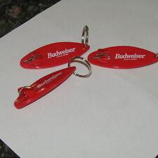 (3) Budweiser Surfboard  Bottle Opener & Keychain