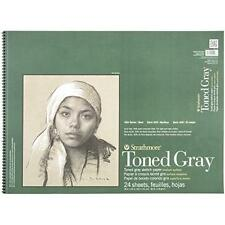 Strathmore 400 Series Toned Sketch Paper Pads, Wire Bound, Gray, 18 x 24 Inches,