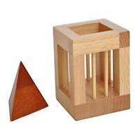 3D Wooden Cube Jigsaw Lock Puzzle Kids Brain Teaser Educational Toy Gift T
