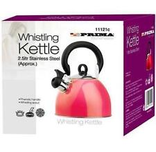 Prima 2.5l Stainless Steel Whistling Kettle in Red 11125C