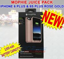 NEW MOPHIE JUICE PACK BATTERY CASE FOR iPHONE 6 PLUS & 6S PLUS ROSE GOLD 2,600 m