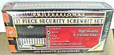 37 PIECE SECURITY SCREWBIT SET WITH MAGNETIC SCREWDRIVER METAL Storage Case NEW