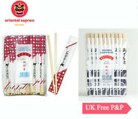 40 PAIRS DISPOSABLE CHOPSTICKS  WOODEN BAMBOO INDIVIDUALLY WRAPPED, FOR PARTY