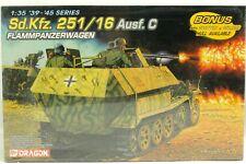 WWII Sd Kfz 251/16 Ausf C Flammpanzerwagen 1939-45 Series 1:35 Dragon Model Kit