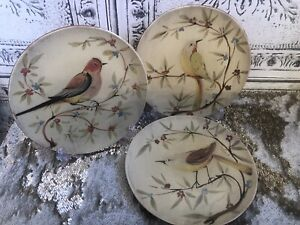 Pier 1 Imports 3 Earthenware App/Salad Plates 9'' Plates Lunch, Spring, Italy