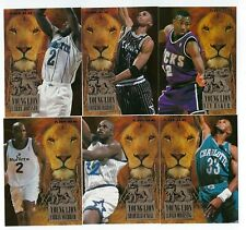 1994-95 FLEER YOUNG LIONS BASKETBALL COMPLETE INSERT SET 1-6