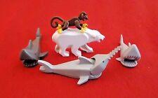 LEGO ANIMALS - 3 Sharks, a bear, and a monkey