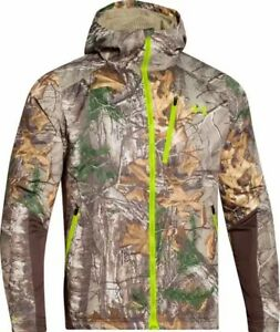 Under Armour Realtree Xtra Barrier Hunting Jacket And Bibs Set-XL
