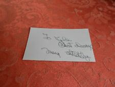 MARY WHITING   AUTOGRAPHED INDEX CARD