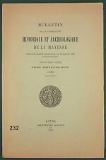 BULLETIN HISTORIQUE & ARCHEOLOGIQUE DE LA MAYENNE - 1959 T68 - EMILE MOREAU…