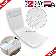 Full Body Bath Pillow Mat Non-Slip Luxury Spa Cushion Bath Pillows for Tub 49x14