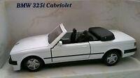 MAISTO AUTOSALONE AUTO DIE CAST BMW 325i CABRIOLET BIANCO ART 21008