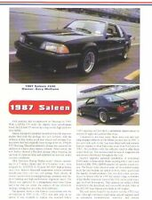 1987 Saleen Mustang Article - Must See !!