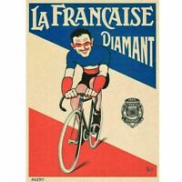 La Francaise Diamant Mich Cycling Poster Vintage Bicycling Art Poster